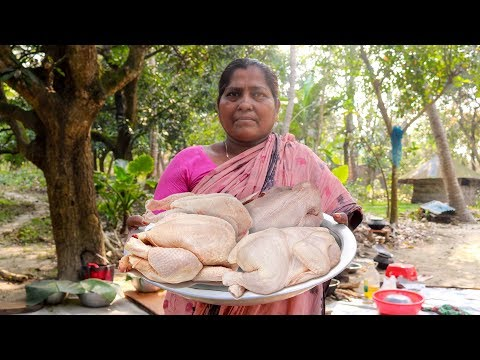 Chicken Curry: Bengali Chicken Curry Cooking Recipe for Village Kids by Mom | Village Food Factory