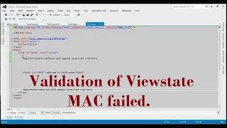 How to fix asp.net error validation of viewstate mac failed