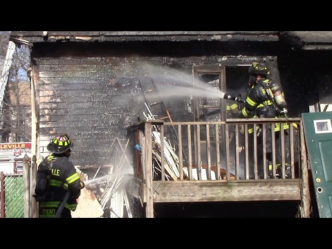 Belleville Fire Department Working House Fire Greylock Parkway 2-19-17