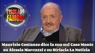 Maurizio Costanzo dice la sua sul Caso Monte, su Alessia Marcuzzi e su Striscia La Notizia