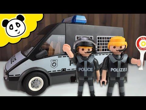 ⭕ PLAYMOBIL Polizei - Polizei Mannschaftswagen - Spielzeug Auspacken & Spielen - Pandido TV
