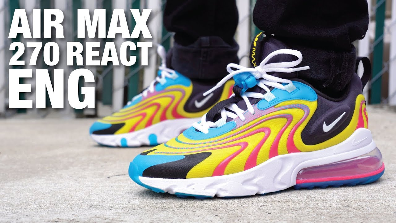 Nike Air Max 270 React Eng Review On Feet Youtube