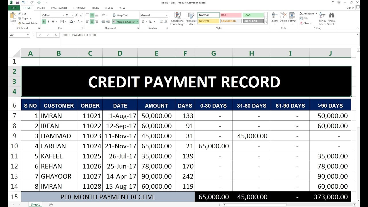 84 how to maintain credit sale purchase payment record in