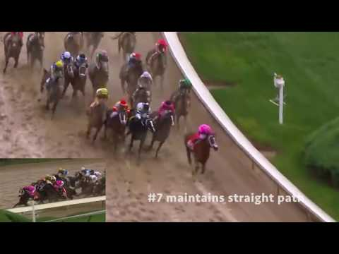 Kentucky Derby 2019 disqualification incident in slow-motion
