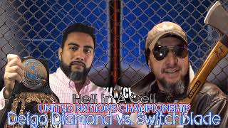 United Nation *Hell In A Cell* Championship: Diego Diamond (c) vs. Switchblade (Millennium II)