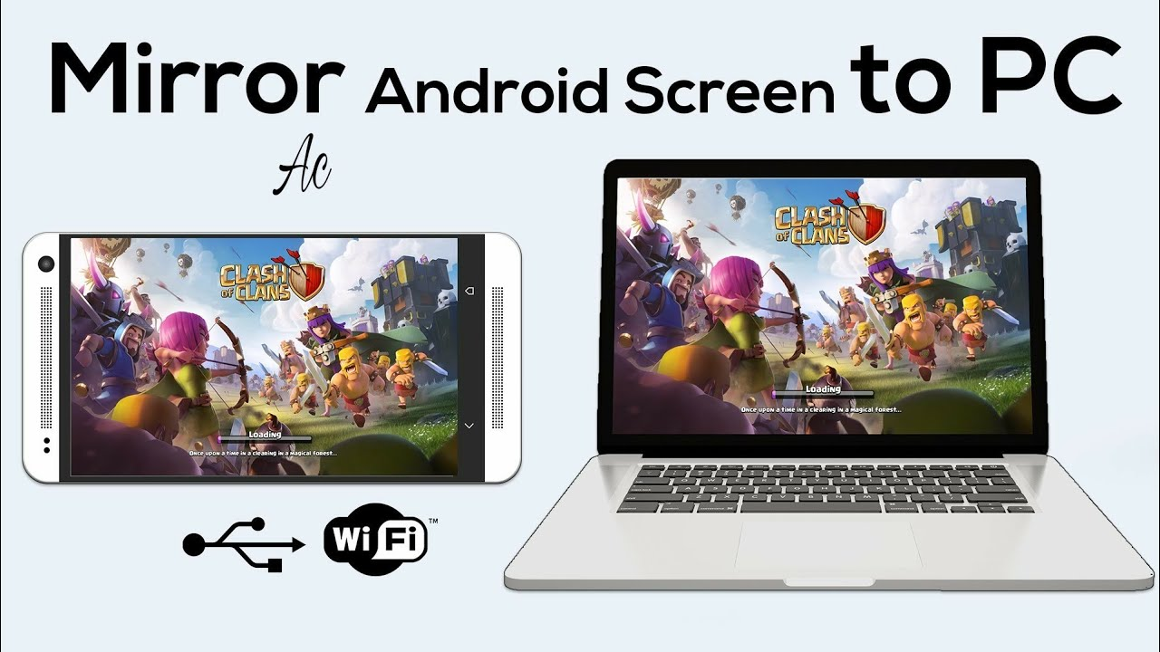 Super cast Android screen on your PC or laptop mirror go
