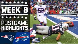 Patriots vs. Bills | NFL Week 8 Game Highlights