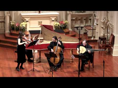 Bach Sonata in E Minor, Gigue; Natalie Carducci, baroque violin