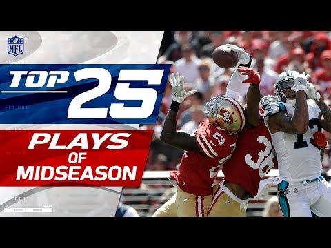Top 25 Plays Through Midseason | NFL Highlights