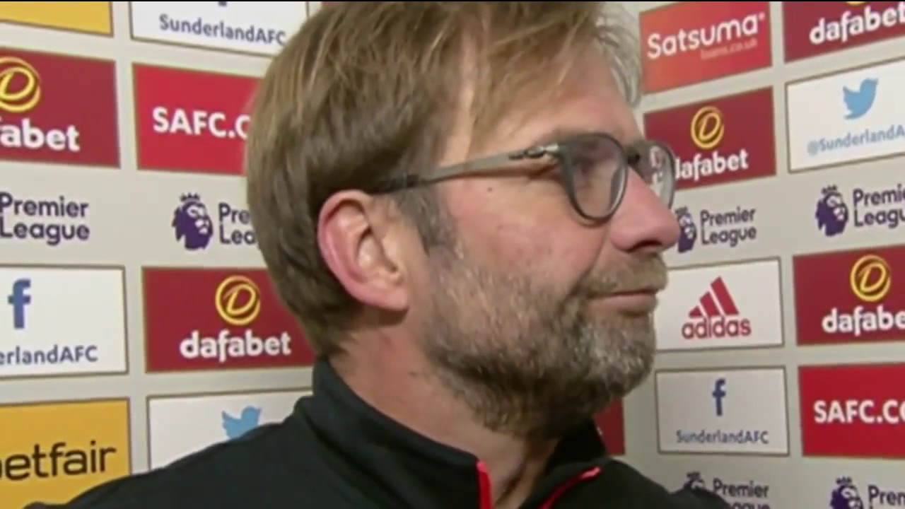 Frustrated Klopp says 'I have no idea' ~ Post match interview ~ Sunderland vs Liverpool 2-2 jan 2017 - YouTube