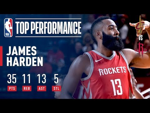 James Harden Gets a Triple-Double, Leads Rockets Past Cavs | November 9, 2017