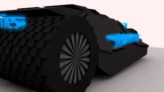 Cinema4D - Batman Tumbler 360 Model