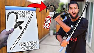 Whatever WEAPON You Draw, I'll Buy it CHALLENGE!! FANTASY EDITION!! RAZOR SERRATED KATANA!!