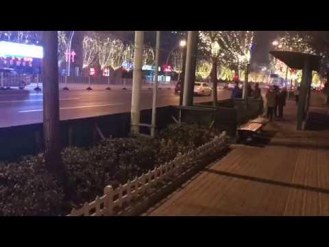 Walk on Tianjin street China with DJI steadicam, 爱国弟在天津逛马路!中国发展迅速real China