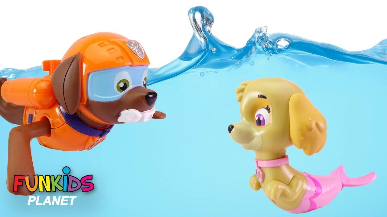 best paw patrol skye chase poppy troll bath time bath paddlin pups