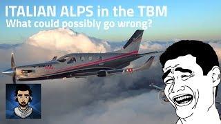 X-Plane 11 VR | TBM Italian Alps