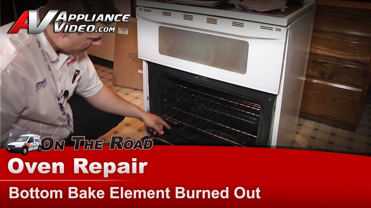 Oven Baking Element >> Maytag , Whirlpool Oven Repair - Bottom Bake Element Burned Out - MER6772BAW - YouTube