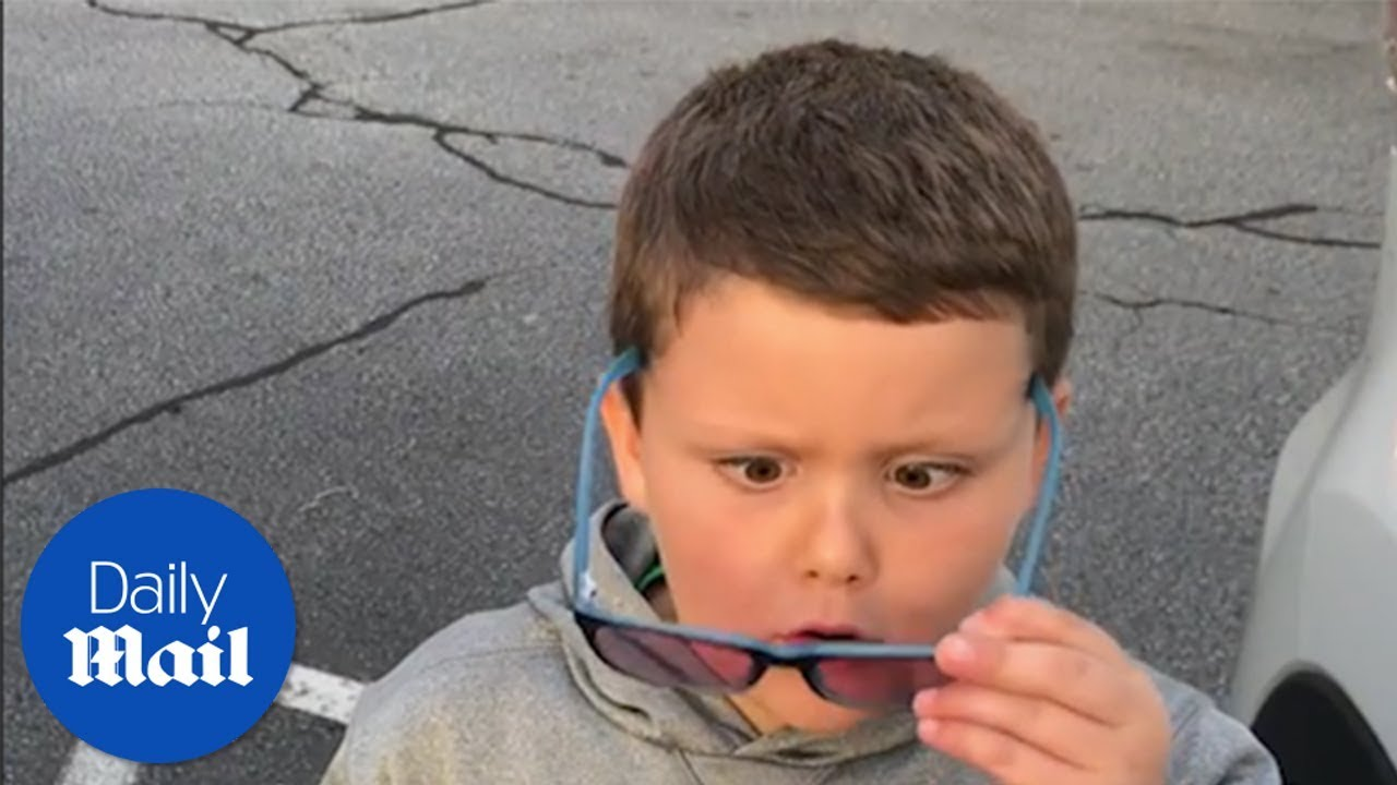 Boy sees COLOR for the first time!