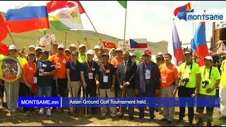 Asian Ground Golf Tournament held