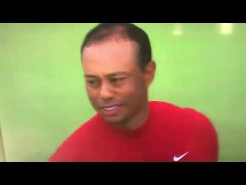 Tiger Woods Wins Masters (2019) Winning Moment