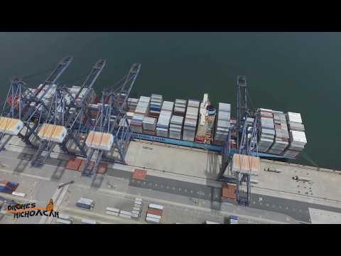 Puerto Lázaro Cárdenas Michoacán desde Drone   DJI    Phantom    Port Of Lazaro Cárdenas