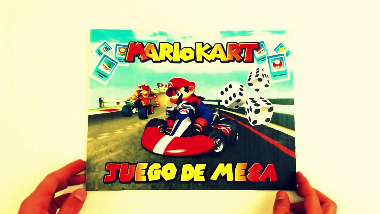 Juego De Mesa De Mario Kart Caja Y Manual Como Se Hace Youtube
