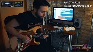 """Preset: """"DRAPambient-1"""" for FRACTAL FXIII (isolated track)"""