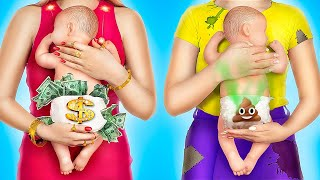 Rich Pregnant vs Broke Pregnant / 15 Funny Pregnancy Situations