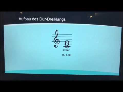 Dreiklänge einfach erklärt - Lernvideo