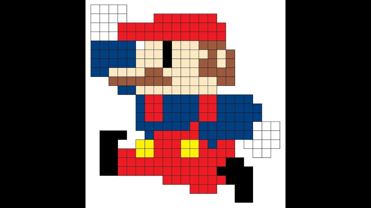 pixel art mario bros youtube