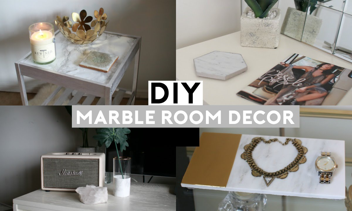 diy marble room decor! cheap & simple! - youtube