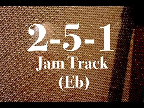 Easy 2-5-1 Jazz Backing Track - Medium Swing (Eb)