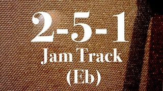 Download Easy 2-5-1 Jazz Backing Track - Medium Swing (Eb) MP3 song and Music Video