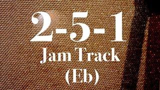 Easy 2-5-1 Jazz Backing Track - Medium Swing (Eb)
