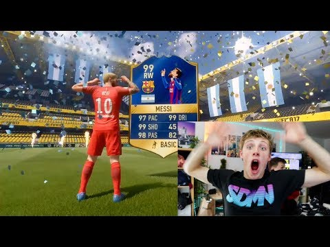 Thumbnail: 99 MESSI IN THE LUCKIEST TOTS PACK OPENING IN HISTORY - FIFA 17