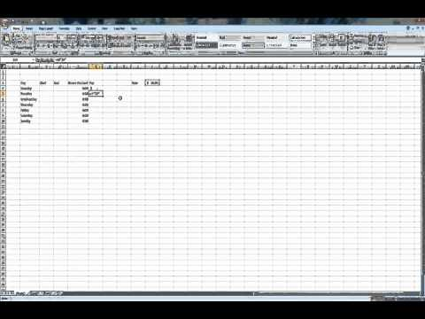How to make your own pay sheet using excel - YouTube