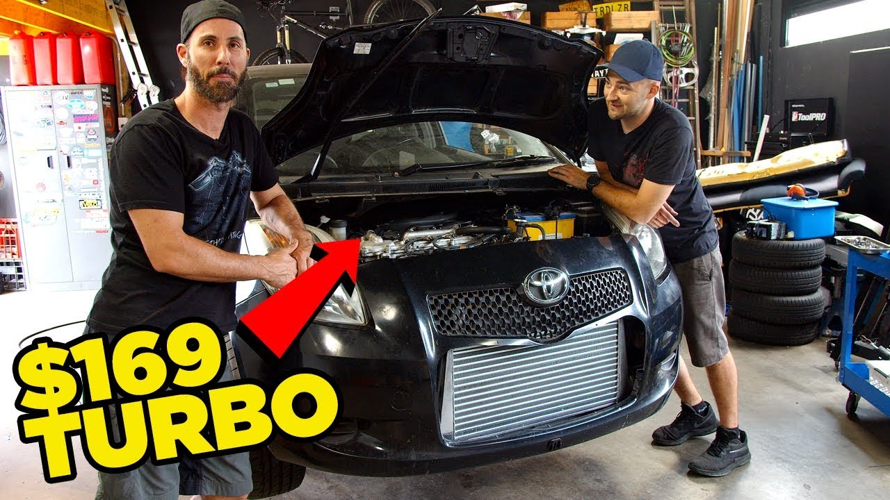 Budget Yaris Gets BOOOOOOST // $169 eBay Turbo (Will it go or will it BLOW?)