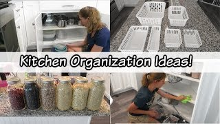 CLEAN WITH ME 2019 // KITCHEN ORGANIZATION HACKS FROM IKEA AND DOLLAR TREE // ORGANIZE WITH ME