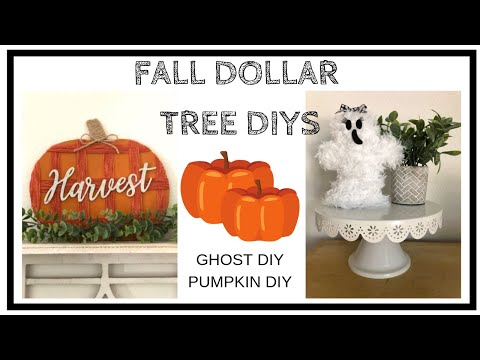 2 FALL DOLLAR TREE DIYS  |  GHOST & PUMPKIN
