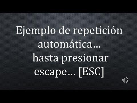 REPETIR PRESENTACION DE POWER POINT HASTA PRESIONAR ESC