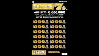 $5 - GOLD BAR 7's -  NEW! Lottery Bengal Scratch Off instant tickets   NEW TICKET TUESDAY!!