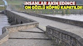 İnsanlar Fotoğraf Çekmek İçin Akın Etmeye Başlayınca On Gözlü Köprü Kapatıldı Video