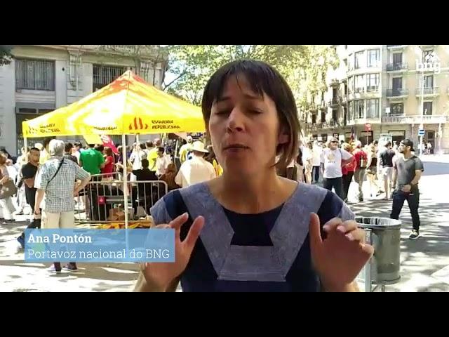 O que está a pasar en Catalunya é unha oportunidade para poder construír un futuro mellor na Galiza