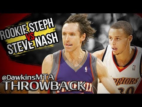 best service 44802 a8675 Steve Nash OWNS Rookie Stephen Curry in PG Duel 2009.12.26 - Steph With 13,  Nash With 36, 9 ASTS!