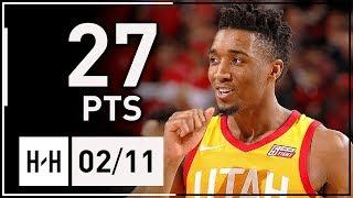 Donovan Mitchell Full Highlights Jazz vs Trail Blazers (2018.02.11) - 27 Points, NASTY!