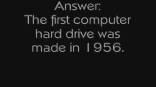 Computer History: What Was the Year The First Hard Drive Was Made?