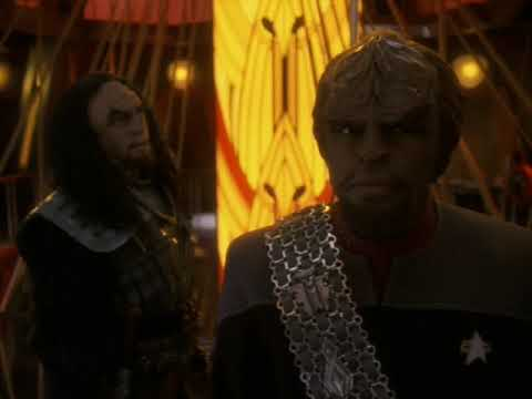 General Martok Ask Lt. Commander Worf To Join His House