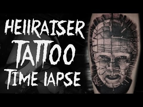50 Hellraiser Tattoo Designs For Men – Cenobite Pinhead Ink Ideas