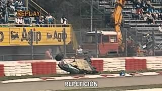 ayrton sennas reaction to barrichellos accident imola 94