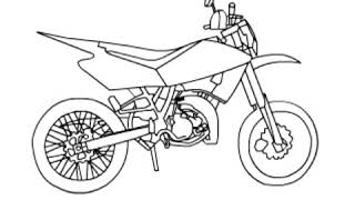 How to draw a crossfire bike